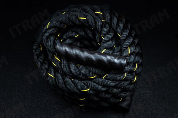 بتل روپ battle rope تمرینات تناوبی قدرتی برای ورزشکاران حرفه ای (۳)