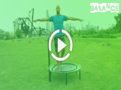 ویدئو ی تمرینات حفظ و افزایش تعادل با ترامپولین و جامپینگ فیتنس