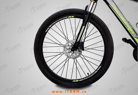 چرخ جلو دوچرخه برند red scorpion
